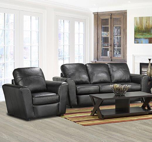 Top Of The Line Lidiya Italian Standard Leather Sofa by Red Barrel Studio by Red Barrel Studio