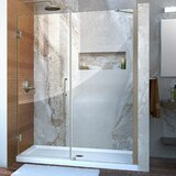 Unidoor 54 x 72 Hinged Frameless Shower Door with Clearmax™ Technology byDreamLine
