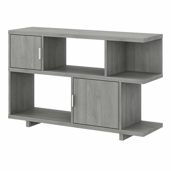 Madison Avenue Low Geometric Bookcase By Kathy Ireland Home By Bush Furniture