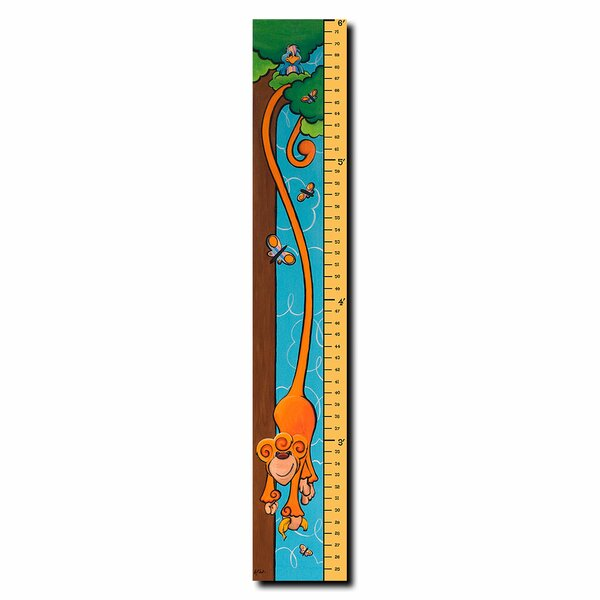 Mark the Monkey 6 Foot Growth Cart by Sylvia Masek Growth Chart by Trademark Fine Art