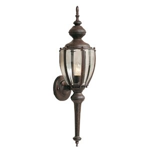 Inexpensive Mahalia Traditional 1-Light Outdoor Wall lantern By Red Barrel Studio