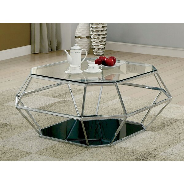 Aguiar Frame Coffee Table With Storage By Everly Quinn
