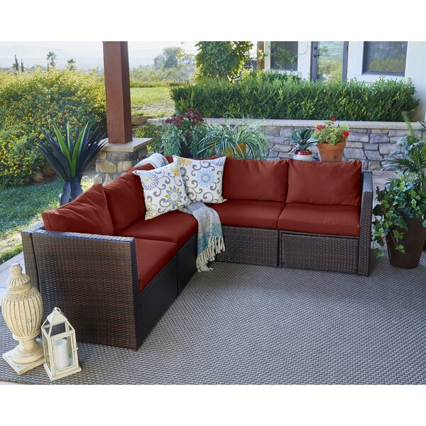 Larsen Patio Sectional with Cushions by Mercury Row