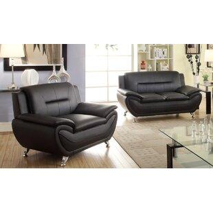Minner Faux Leather Living Room Set by Orren Ellis