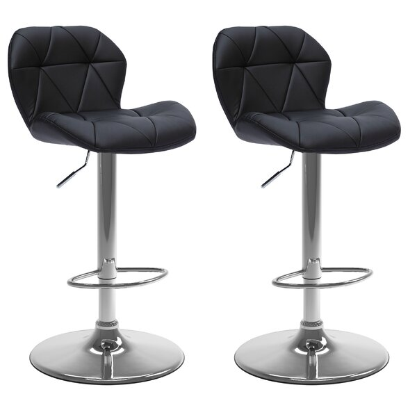 Desiree Adjustable Height Swivel Bar Stool (Set of 2) by Wade Logan