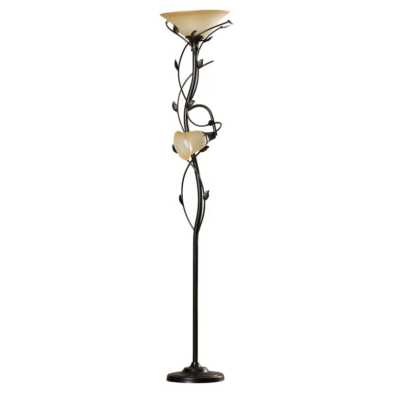 store floors led lamp bed bath head steel in torchiere floor pivoting product brushed