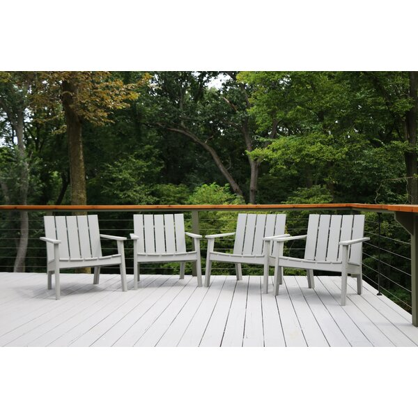Galewood Chat Patio Chair (Set of 4) by Rosecliff Heights Rosecliff Heights