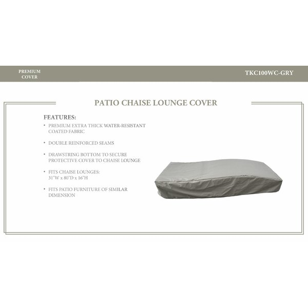 Bai Resistant Patio Chaise Lounge Cover by TK Classics