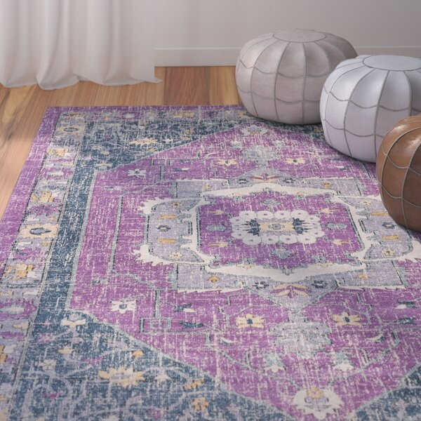 Fonteyne Purple/Blue Area Rug by Bungalow Rose