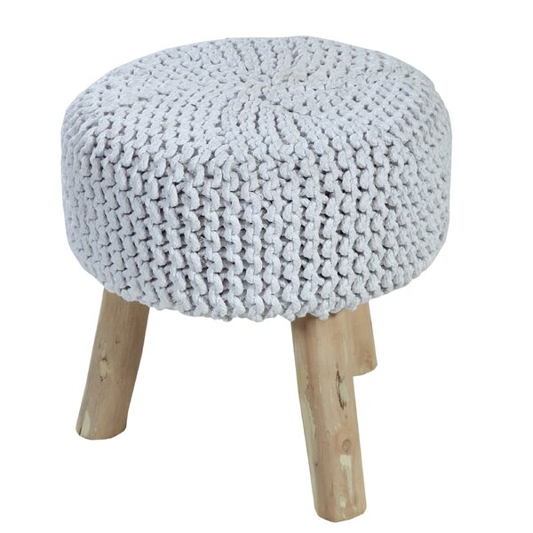 Reposa Padded Cotton Vanity Stool by Bungalow Rose