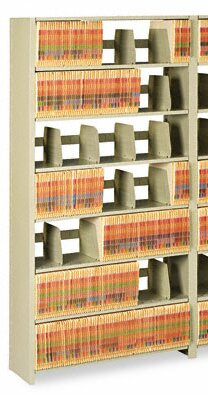 Tennsco Snap-Together 6-Shelf Closed Add-On Open Filing Unit by Tennsco Corp.