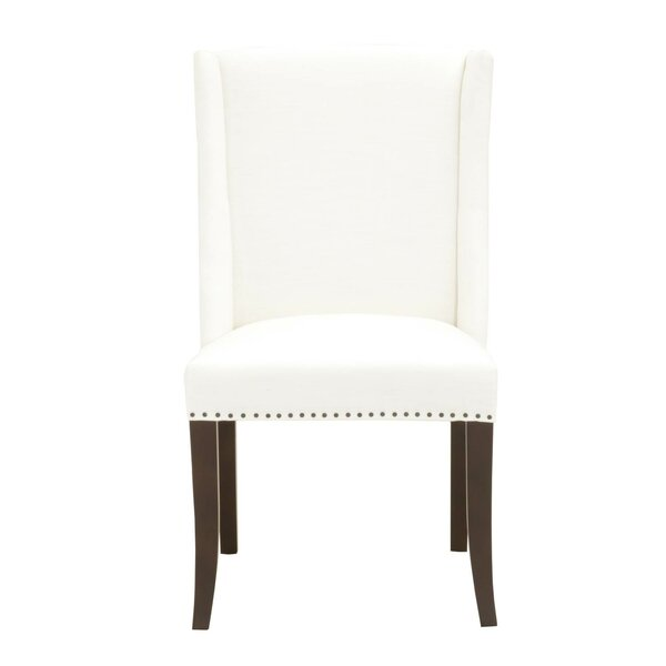 Clapper Sculpted Wing Upholstery Dining Chair (Set of 2) by Charlton Home