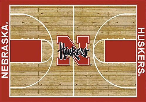 NCAA College Home Court Nebraska Novelty Rug by My Team by Milliken