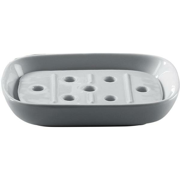 Mahurin Countertop Saver with Drain Porcelain Soap Dish by Latitude Run
