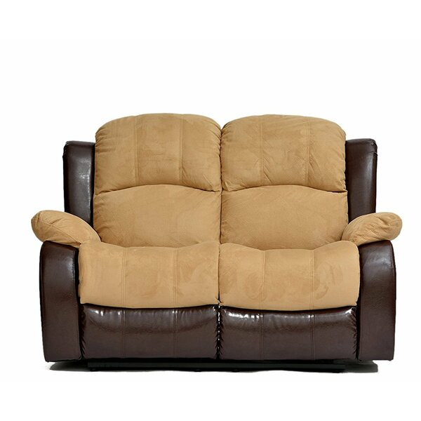 Traditional 2 Tone Reclining Loveseat by Madison Home USA