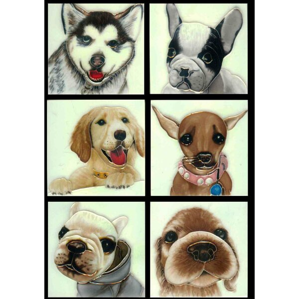 Dog  1 Tile Wall Decor by Continental Art Center