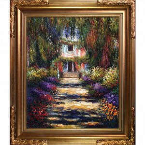 Garden Path at Giverny' by Claude Monet Framed Painting by Tori Home