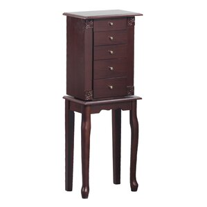 Bonville Free Standing Jewelry Armoire with Mirror by Astoria Grand