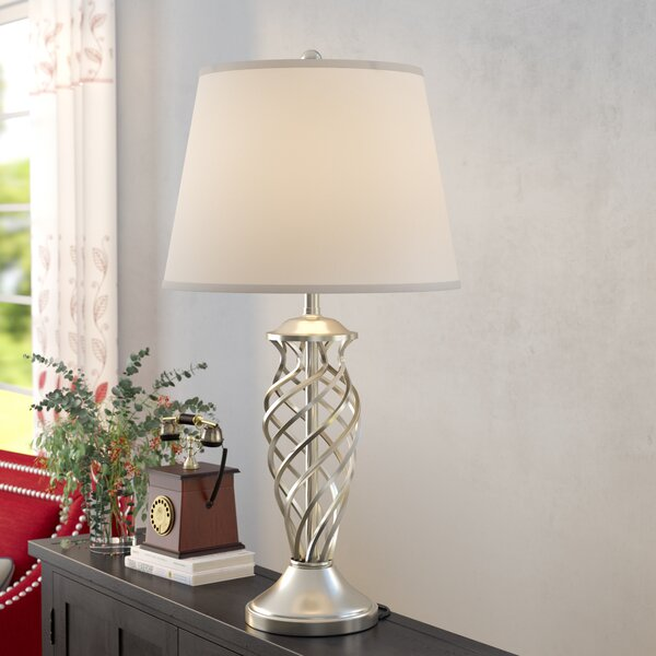 Cotaco Contoured Cage 30.5 Table Lamp by Three Posts