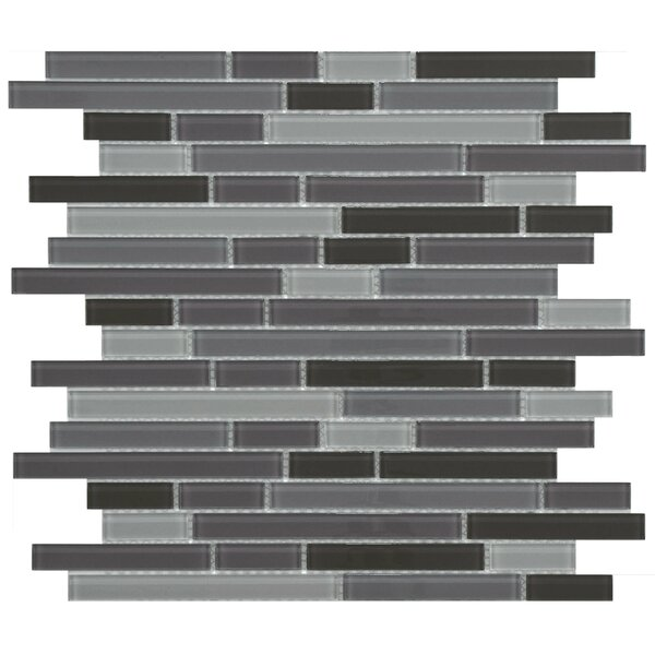 Ambit Random Sized Glass Mosaic Tile in Reglia by EliteTile