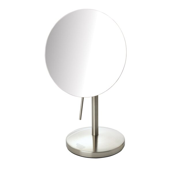 Tabletop 5x Magnification Vanity Mirror by Jerdon