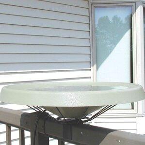 deck mount heated birdbath