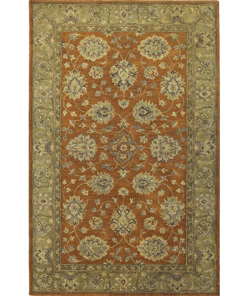 Storrs Rust/Sage Mahal Rug by Darby Home Co