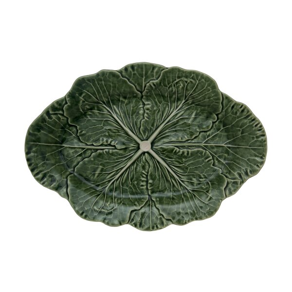 Cabbage Platter (Set of 2) by Bordallo Pinheiro