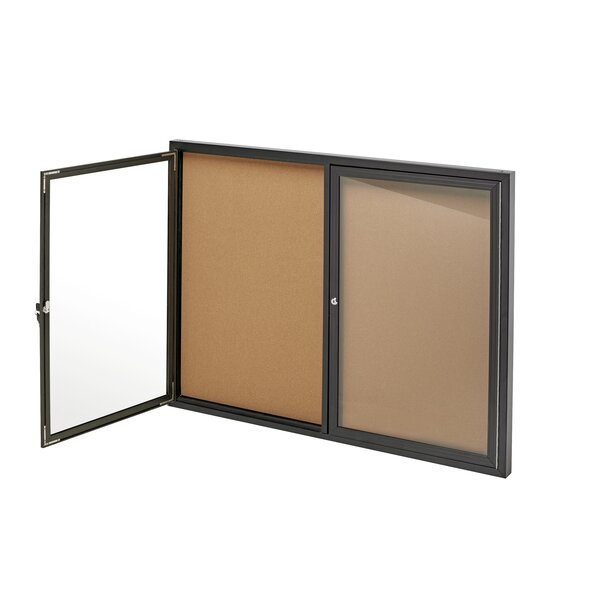 Double Door Enclosed Bulletin Board, 48 x 36 by AdirOffice