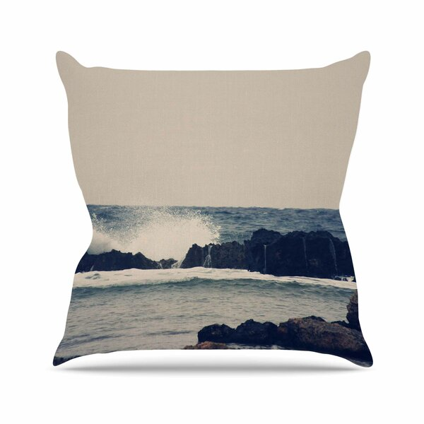 Sylvia Coomes Ocean 2 Coastal Outdoor Throw Pillow by East Urban Home