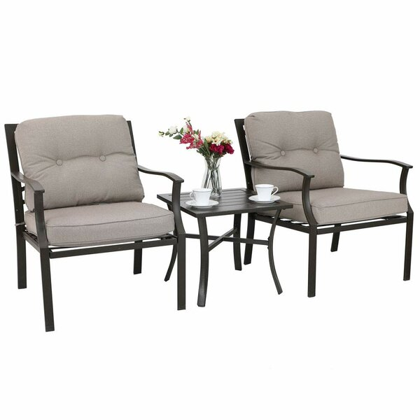Quinlynn 3 Piece Seating Group with Cushions (Set of 3) by Canora Grey