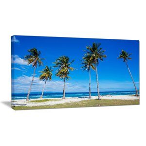Palms on Philippines Tropical Beach Photographic Print on Wrapped Canvas by Design Art