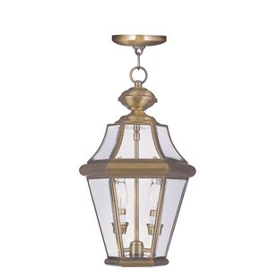 Reviews Violetta 2-Light Outdoor Hanging Lantern By Darby Home Co