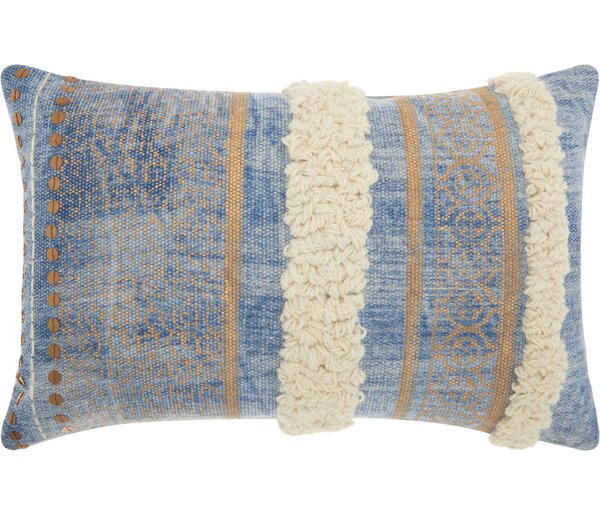 Adali Contemporary Cotton Lumbar Pillow by Trent Austin Design