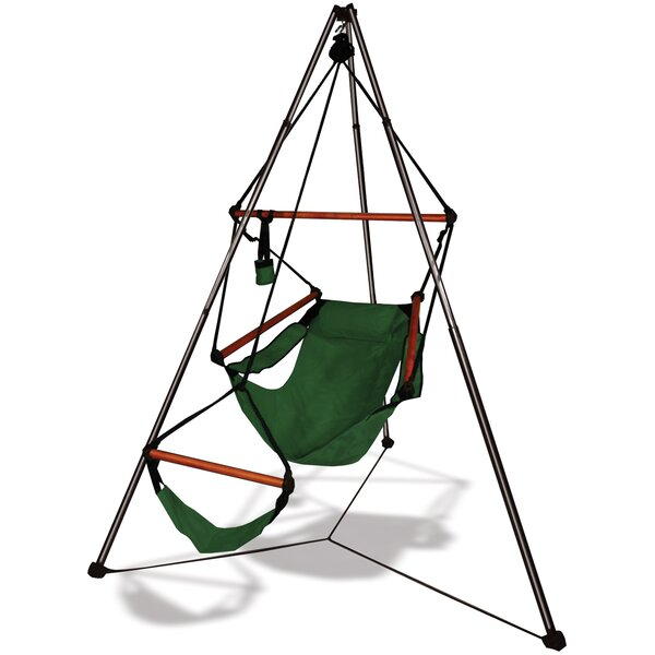 Polyester Chair Hammock with Stand by Hammaka