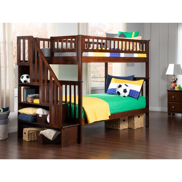 Shyann Twin Over Twin Bunk Bed with Bookcase by Viv + Rae