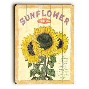 Sunflower Seed Vintage Advertisement by August Grove