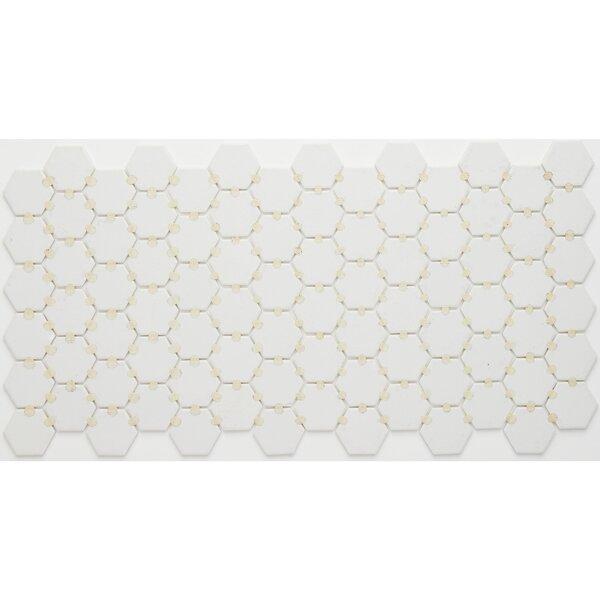Dalton 12 x 24 Porcelain Mosaic Tile in Arctic White by Itona Tile