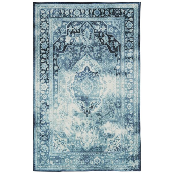 East Broadway Teal Area Rug by Bungalow Rose