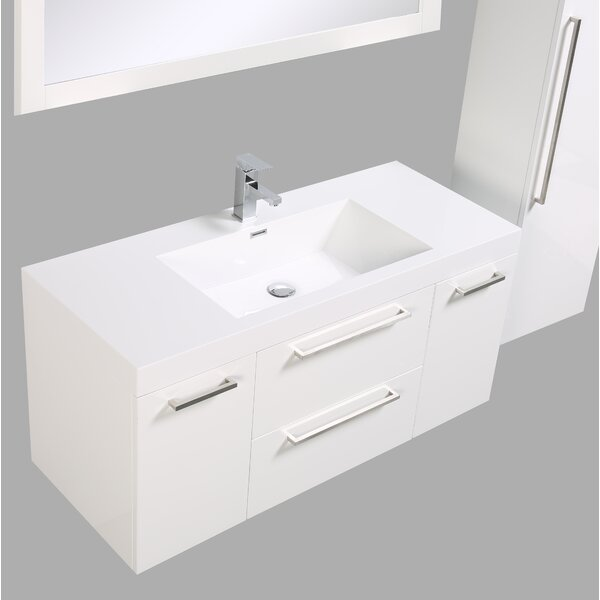 Sandifer 47 Wall-Mounted Single Bathroom Vanity by Orren Ellis