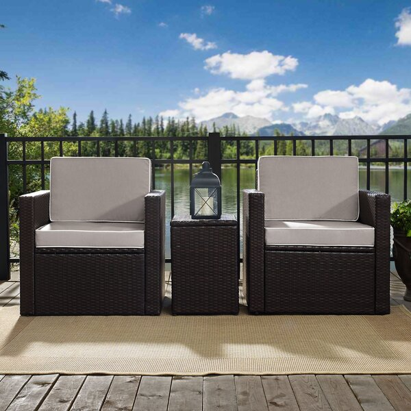 Belton 3 Piece Conversation Set with Cushions by Mercury Row