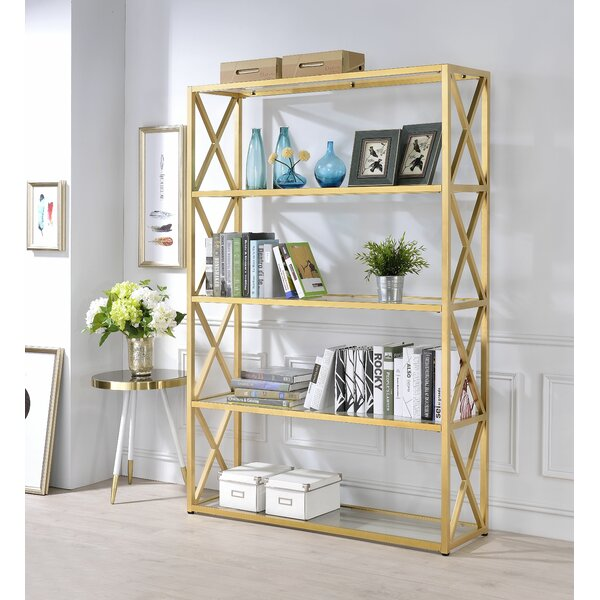 Lorenza Etagere Bookcase by Everly Quinn