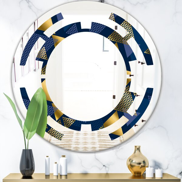 Space Luxury Waves in and IX Modern & Contemporary Frameless Wall Mirror