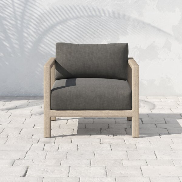 Franko Sonoma Teak Patio Chair with Cushions by Bungalow Rose
