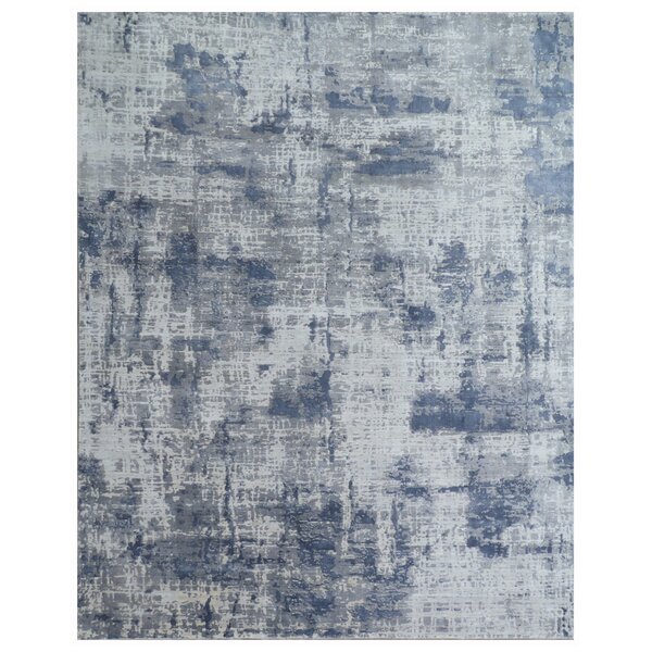 Reflections Hand-Woven Silver Area Rug by Exquisite Rugs