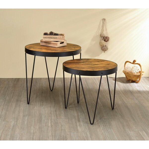 Mcdonell 2 Piece Metal End Table by Ivy Bronx