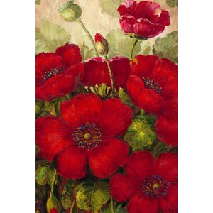 Poppies II by Rio Painting Print on Canvas by Trademark Fine Art