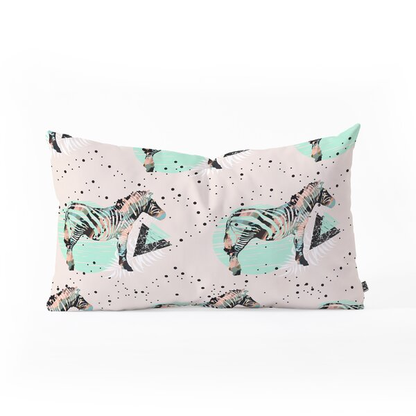 Marta Barragan Camarasa Zebras Oblong Lumbar Pillow by East Urban Home