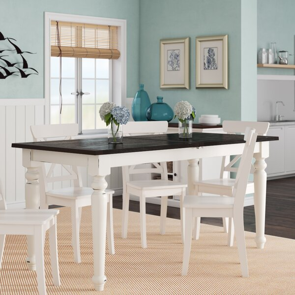 Mulford Extendable Dining Table by Beachcrest Home