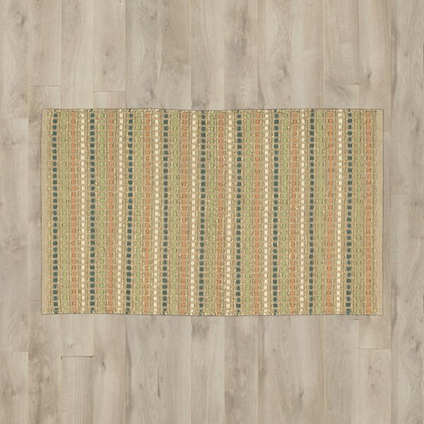 Caicos Green/Brown Area Rug by Bay Isle Home